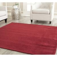 Safavieh Handmade Himalaya Solid Red Wool Rug - 4' Square