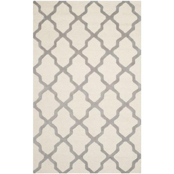 Safavieh Handmade Cambridge Ivory/ Silver Wool Rug (11' x 15')