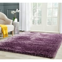 Safavieh Charlotte Shag Lavender Plush Polyester Rug - 5'1 x 7'6