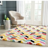 Safavieh Kids Shag Playful Ivory/ Multi Rug - 8' x 10'