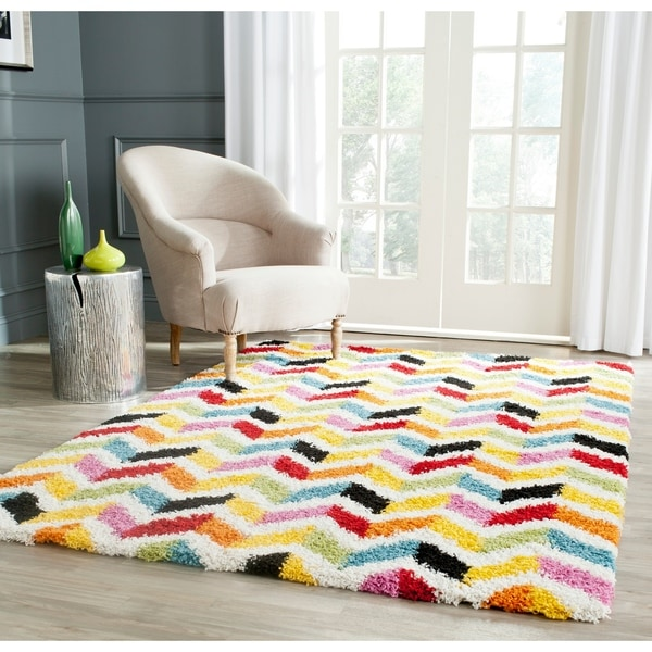 Shop Safavieh Kids Shag Playful Ivory Multi Rug 8 X 10 On