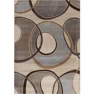 Somette Providence Terrain Around the Block Pearl Area Rug (7'10 x 9'10)