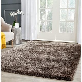 Safavieh Charlotte Shag Brown Plush Polyester Rug (5'1 x 7'6)