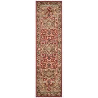 Safavieh Mahal Traditional Grandeur Natural/ Navy Rug (2'2 x 8')