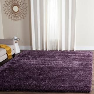Safavieh Charlotte Shag Lavender Plush Polyester Rug (8' x 10')