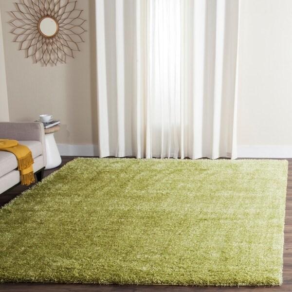 Safavieh Charlotte Shag Green Plush Polyester Rug - 8' x 10'