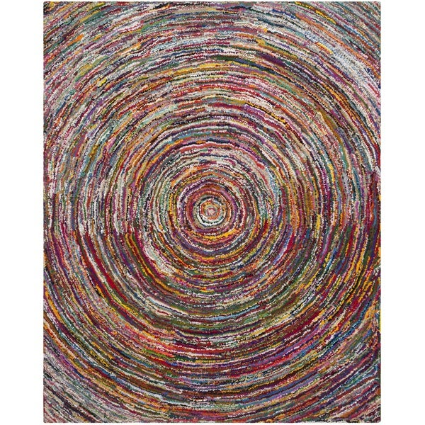 Safavieh Handmade Nantucket Modern Abstract Multicolored Cotton Rug - 9' x 12'