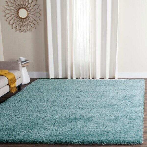 Safavieh Charlotte Shag Light Blue Plush Polyester Rug - 8' x 10'