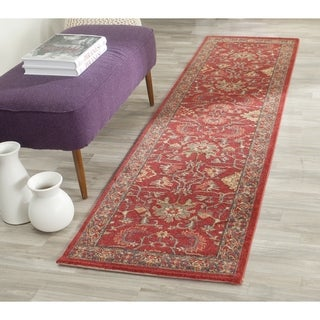 Safavieh Mahal Traditional Grandeur Red/ Navy Rug (2'2 x 8')