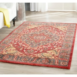 Safavieh Mahal Traditional Grandeur Navy/ Red Rug (4' x 5'7)
