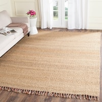 Safavieh Casual Natural Fiber Hand-Woven Natural / Multi Jute Rug - 9' x 12'