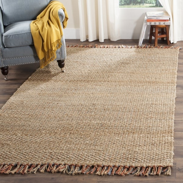 Safavieh Casual Natural Fiber Hand-Woven Natural / Multi Jute Rug (9' x 12')