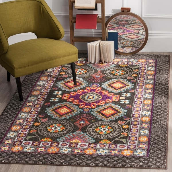 Safavieh Monaco Bohemian Brown/ Multicolored Rug - 8' x 11'
