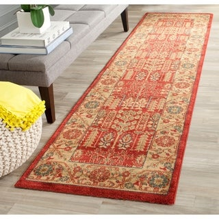 Safavieh Mahal Traditional Grandeur Red/ Natural Rug (2'2 x 8')