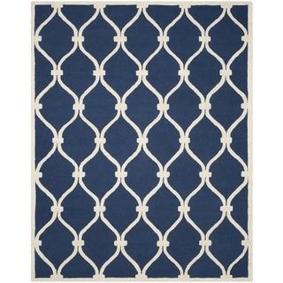 Safavieh Handmade Cambridge Navy/ Ivory Wool Rug (11' x 15')
