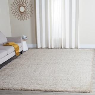 Safavieh Charlotte Shag Ivory Plush Polyester Rug (8' x 10')