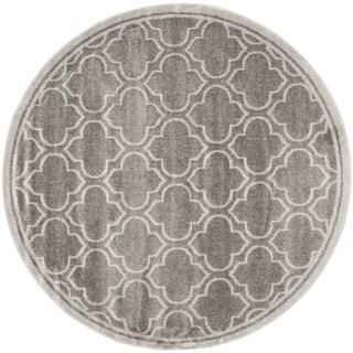 Safavieh Indoor/ Outdoor Amherst Grey/ Light Grey Rug (9' Round)