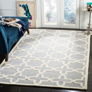 Safavieh Handmade Cambridge Silver/ Ivory Wool Rug (12' x 15')