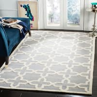 Safavieh Handmade Cambridge Silver/ Ivory Wool Rug - 12' x 15'