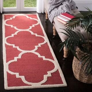 Safavieh Handmade Cambridge Rust/ Ivory Wool Rug (2'6 x 12')
