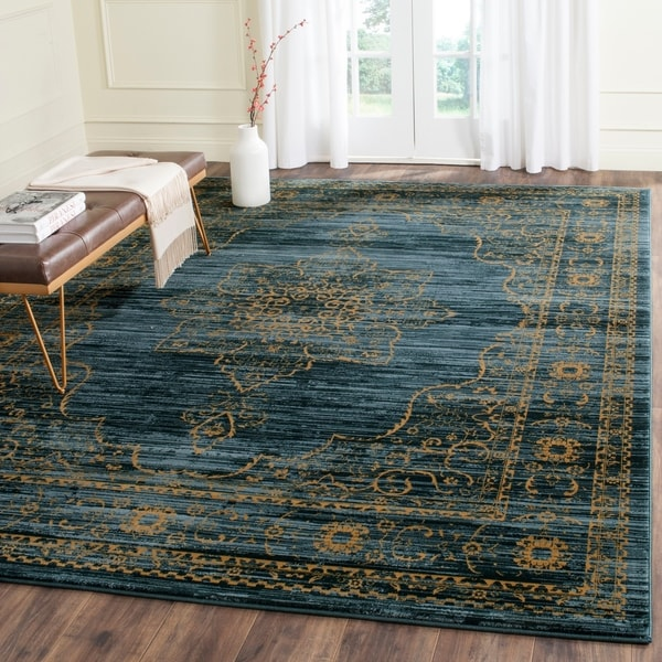 "Safavieh Serenity Turquoise/ Gold Rug - 8'6"" x 12'"