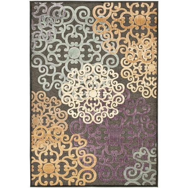 Safavieh Paradise Charcoal/ Multi Viscose Rug - 8' x 11'2