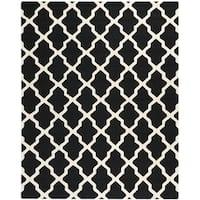 Safavieh Handmade Cambridge Black/ Ivory Wool Rug - 11'6 x 16'