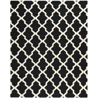 Safavieh Handmade Cambridge Black/ Ivory Wool Rug (11'6 x 16')