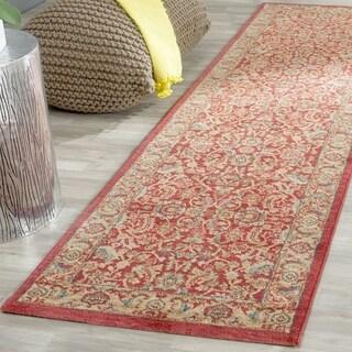 Safavieh Mahal Traditional Grandeur Red/ Natural Rug (2'2 x 8')