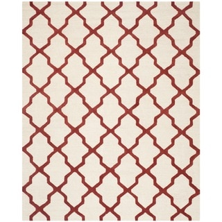 Safavieh Handmade Cambridge Ivory/ Rust Wool Rug (11'6 x 16')
