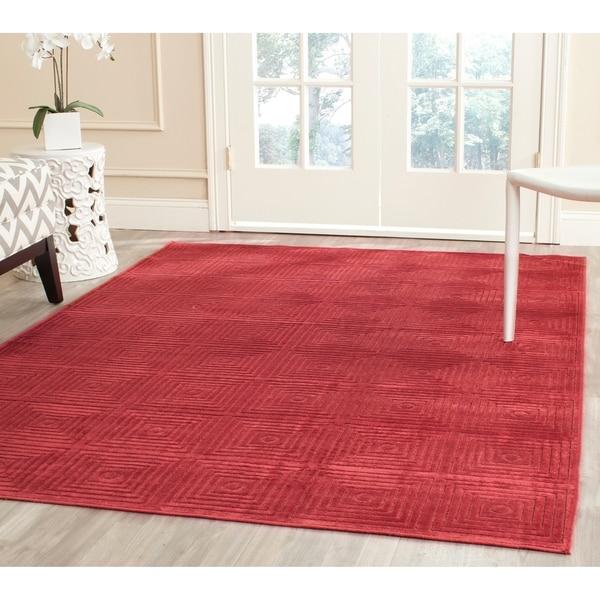 Safavieh Paradise Modern Red Viscose Rug - 8' x 11'2