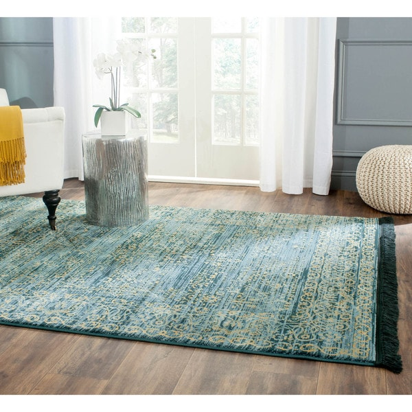 Safavieh Serenity Turquoise Gold Rug 8 6 X 12 Free