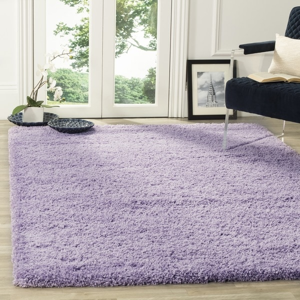 Safavieh California Cozy Plush Lilac Shag Rug - 8'6 x 12'
