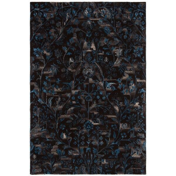 Safavieh Handmade Sapphire Brown/ Blue Wool/ Viscose Rug - 8' x 10'