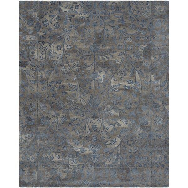 Safavieh Handmade Sapphire Brown/ Blue Wool/ Viscose Rug (8' x 10') - 8' x 10'
