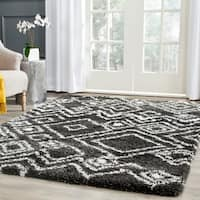 Safavieh Belize Shag Charcoal/ Ivory Moroccan Area Rug - 8'6 x 12'