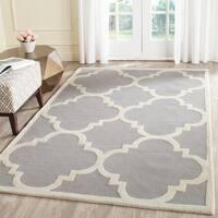 Safavieh Handmade Cambridge Silver/ Ivory Wool Rug (11'6 x 16') - 11'6 x 16'