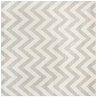 Safavieh Indoor/ Outdoor Amherst Light Grey/ Beige Rug - 9' Square