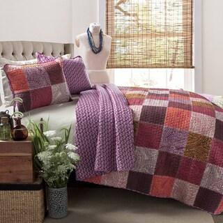Lush Decor Paisley Patchwork 3-piece Quilt Set