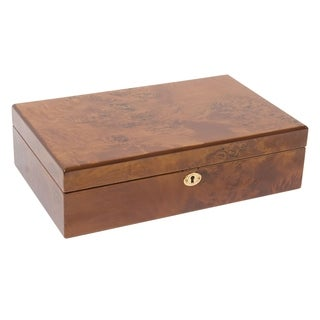 Burl Wood Solid Top 10-watch Case