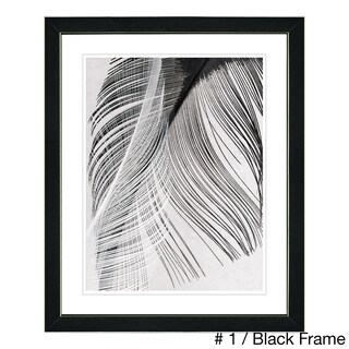 Studio Works Modern 'Feather Dance' Framed Fine Art Print (More options available)