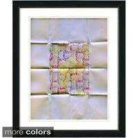 Studio Works Modern 'Folded Paper Series - I' Framed Fine Art Print
