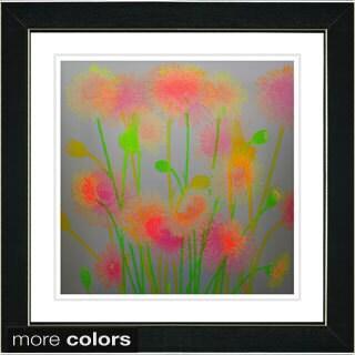 Studio Works Modern 'Verona Flowers' Framed Fine Art Print