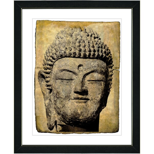 Studio Works Modern 'Stone Buddha' Framed Fine Art Print