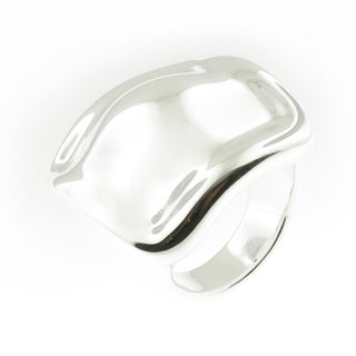 Handmade .925 Sterling Silver High Polish Square Electroform Dome Ring (Thailand)