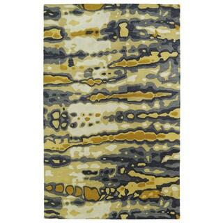 "Hand-tufted Artworks Yellow Tie-dye Rug (9'6 x 13') - 9'6"" x 13'"