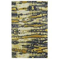 Hand-tufted Artworks Yellow Tie-dye Rug (9'6 x 13')