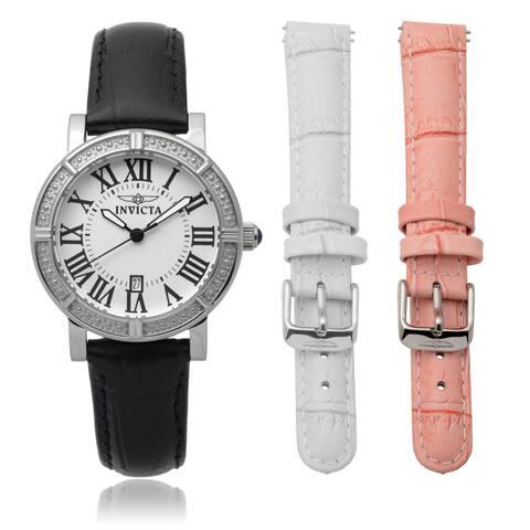 Invicta Women's Genuine Leather Wildflower Interchangeable Band Watch