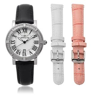 Invicta Women's 13967 Genuine Leather Wildflower Interchangeable Band Watch