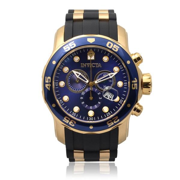 4a571e5f7 Invicta Men's 17882 Pro Diver Quartz Chronograph Silicone Band Watch